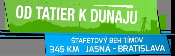 Beh od Tatier k Dunaju | Štafetový beh 345 km Jasná – Bratislava
